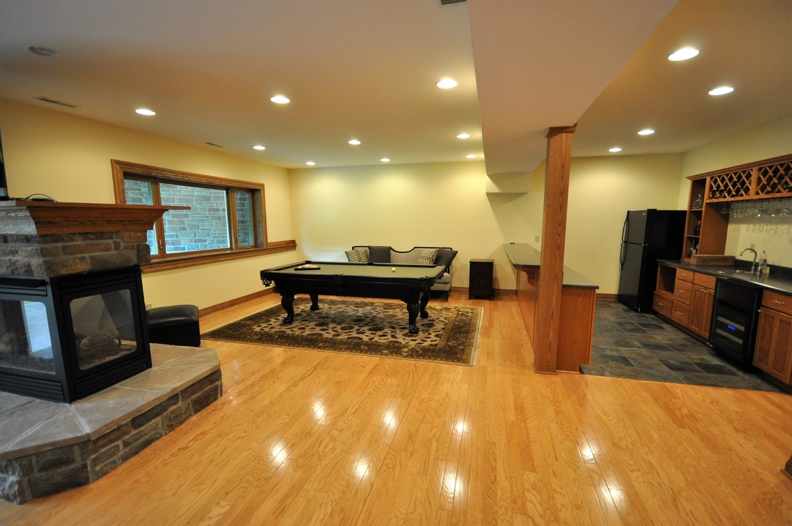 Lower Level Entertaining Space